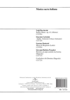Giovanni Battista Pergolesi Confitebor Tibi Domine Voice Musicroom Com