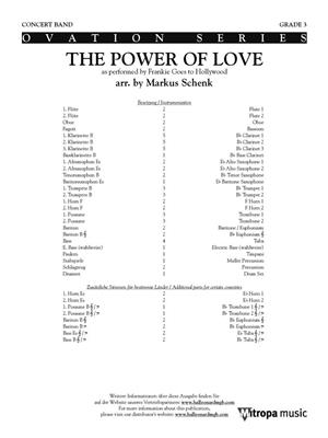 Frankie Goes to Hollywood: The Power of Love: Arr. (Markus Schenk): Concert Band