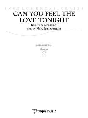 Can You Feel the Love Tonight: Arr. (Marc Jeanbourquin): Flute Ensemble