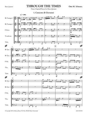 Otto M. Schwarz: Through the Times: Brass Ensemble