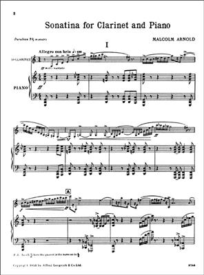 Malcolm Arnold: Sonatina for Clarinet and Piano Opus 29: Clarinet
