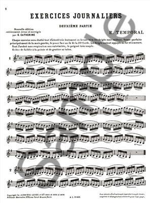 Temporal: Temporal: Exercices journaliers Vol.2: Violin