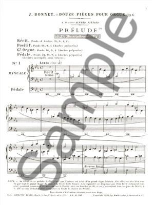 Joseph Bonnet: Joseph Bonnet: 12 Pieces Op.5: Organ