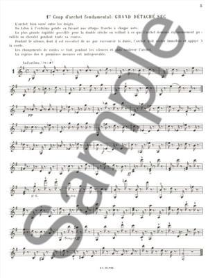 Georges Catherine: Étude du mécanisme de l'archet: Violin