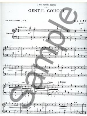 Frédéric Binet: Frederic Binet: Gentil Coucou: Piano or Keyboard