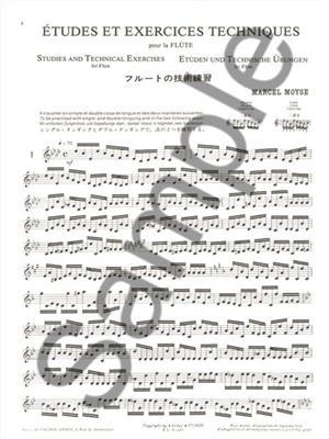 Marcel Moyse: Études et Exercices Techniques: Flute