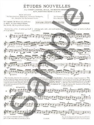 Maxime Alphonse: Etudes Nouvelles: Trumpet, Cornet or Flugelhorn