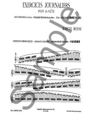 Marcel Moyse: Daily Exercises for the Flute: Flute