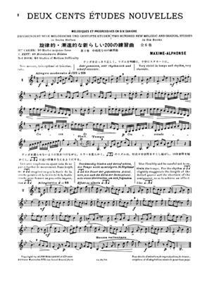 Maxime-Alphonse: 200 Études Nouvelles Mélodiques et Progressives: French Horn