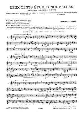 Alphonse: 200 Études Nouvelles Mélodiques et Progressives: French Horn