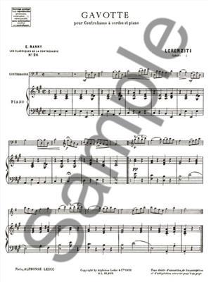 Joseph-Antoine Lorenziti: Gavotte: Double Bass