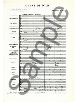 Jacques Ibert: Chant De Folie: Orchestra