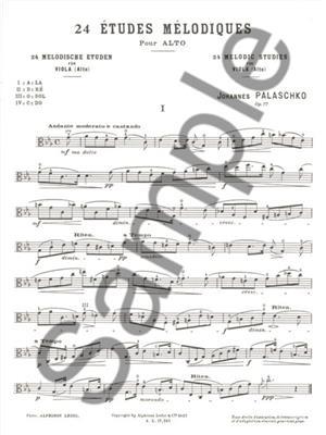 Johannes Palaschko: 24 Etudes Melodique Opus 77: Viola