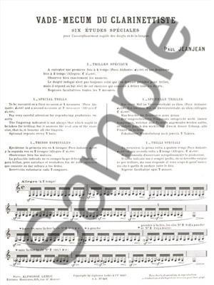 Jean-Jean: Vademecum Du Clarinettiste: Clarinet