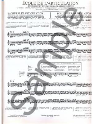 Marcel Moyse: Ecole de l'articulation pour flûte: Flute