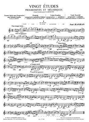20 Etudes Progressives & Melodiques 1: Clarinet
