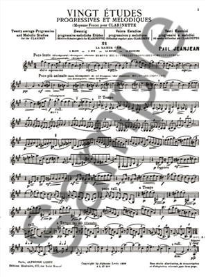 Jean-Jean: 20 Etudes Progressives & Melodiques 2: Clarinet
