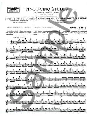 Marcel Moyse:25 Etudes de Virtuosite d'apres Czerny
