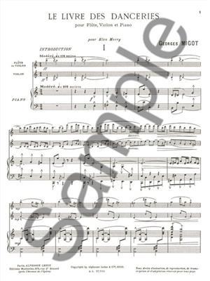 Georges Migot: Le Livre des Danceries: Trios