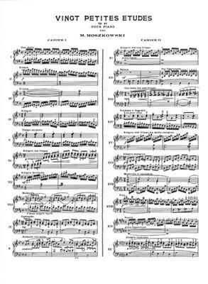 Moritz Moszkowski: 20 Petites Études Op.91, Volume 1: Piano