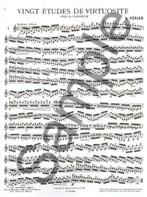 Perier: 20 Etudes De Virtuosite: Clarinet