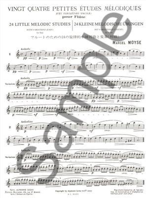 Marcel Moyse: 24 Petites Etudes Melodiques: Flute