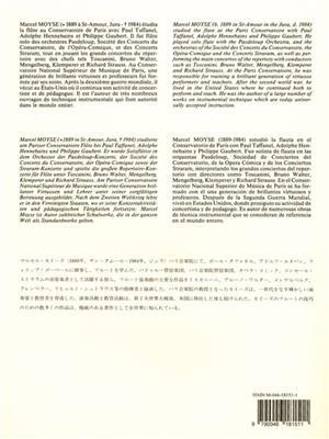 Marcel Moyse: 100 Etudes Faciles Et Progressives 2: Flute