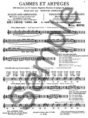 Marcel Moyse: Gammes et Arpeges: Flute