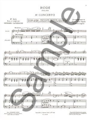 Pierre Rode: Premiers Solos Concertos Classiques: Violin