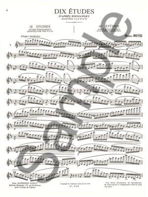 Marcel Moyse:10 Etudes D'Apres Wieniawsky
