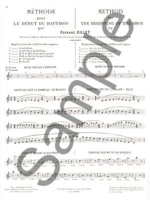 Ferdinand Gillet: Méthode pour le Début: Oboe