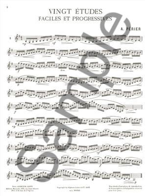 Perier: Etudes Faciles & Progr.(20): Clarinet
