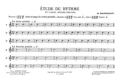 Georges Dandelot: Etude du Rythme, Vol.2: All Instruments