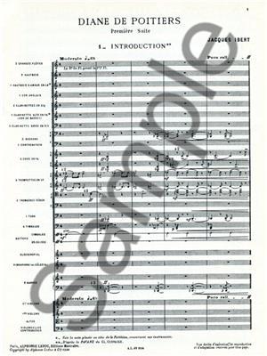 Jacques Ibert: Diane de Poitiers - Suite No.1: Orchestra