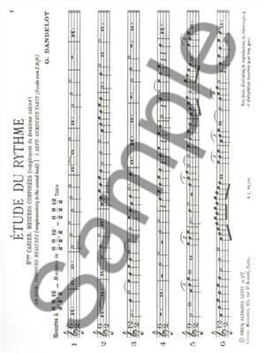 Georges Dandelot: Etude du Rythme, Vol.5: All Instruments