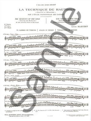 L. Bleuzet: Louis Bleuzet: The Technique Of The Oboe: Oboe