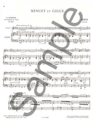 Johann Sebastian Bach: Violin Classics - Menuet And Gigue By J. S. Bach: Violin