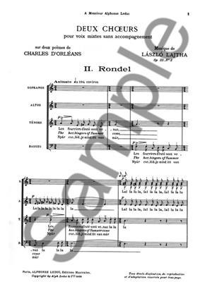 Laszlo Lajtha: Laszlo Lajtha: 2 Choeurs No.2: Rondel: Mixed Choir