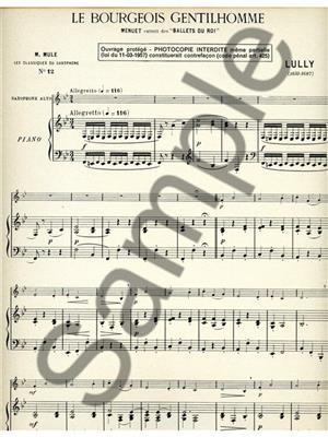 Jean-Baptiste Lully: Menuet: Alto Saxophone