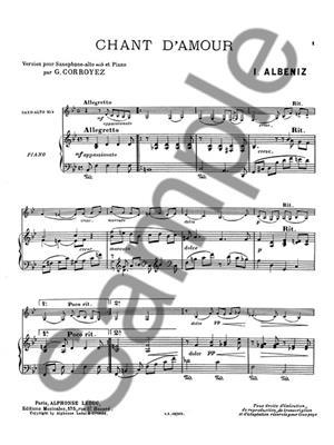 Isaac Albéniz: Chant D'Amour: Saxophone