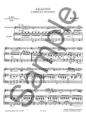 Wolfgang Amadeus Mozart: Adagio: Alto Saxophone