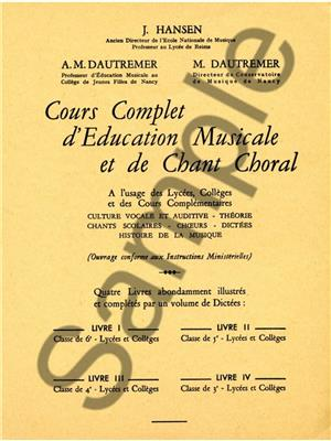 Jules Hansen: Jules Hansen: Ecriture musicale Vol.3: Books on Music