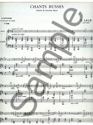 Edouard Lalo: Edouard Victor Antoine Lalo: Chants russes: Violin