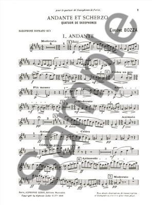 Eugène Bozza: Andante And Scherzo: Saxophone Ensemble
