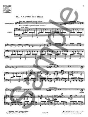 Jacques Ibert: Le Petit Ane blanc: Saxophone