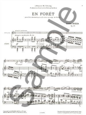 Eugène Bozza: En Forêt: French Horn