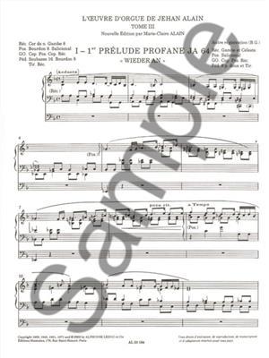 Alain: Oeuvre D'Orgue 3: Organ