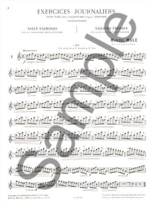 Marcel Mule: Exercices journaliers d'après Terschack: Saxophone