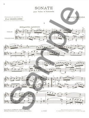 Luigi Boccherini: Sonata: Violin & Cello