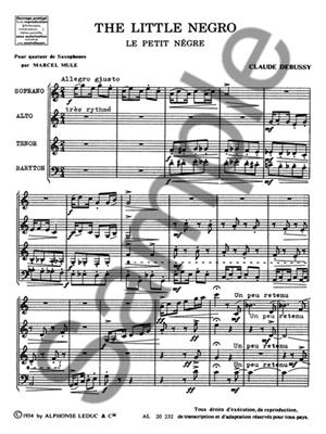 Claude Debussy: Le Petit Nègre: Saxophone Ensemble